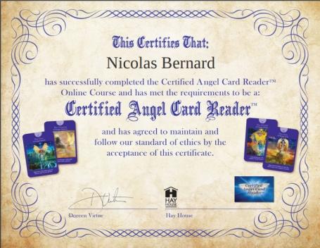 certified angel card reader Doreen Virtue - nicolas bernard - Hay house -