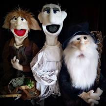"""Ancelin l'elfe, Théodule le fantôme et le professeur magicusss - A voir dans le spectacle """"Niko le gardien des fées"""""""