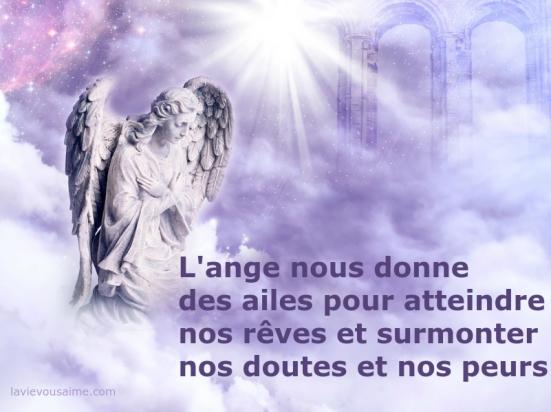 affirmation angelique - affirmation positive - l ange nous donne des ailes - spirit