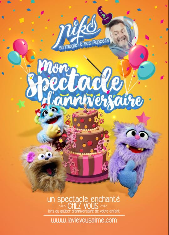 spectacle anniversaire - lille - nord - magie à domicile - enfant - kids - marionnettes à domicile - spectacle à domicile