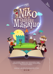 niko et le château magique - comédie magique - marionnettes nord - école collectivité CE nord